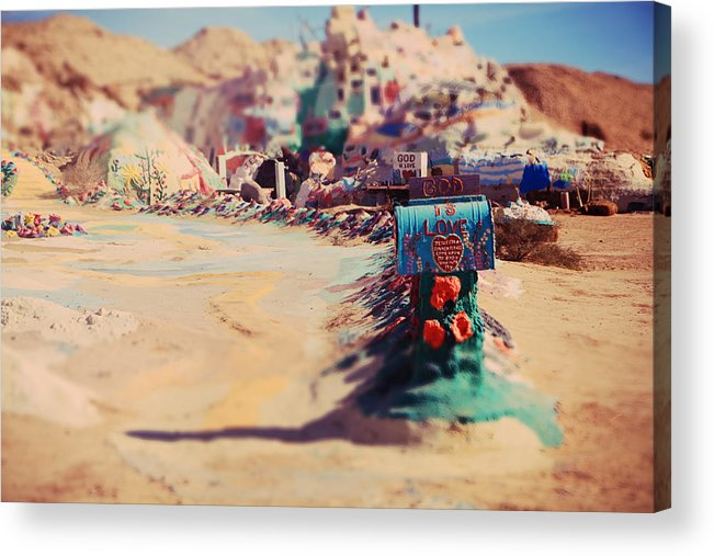 Salvation Mountain Acrylic Print featuring the photograph Love Letters by Laurie Search