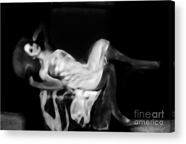 Black Acrylic Print featuring the photograph Miss Shapen Chase by Jessica Shelton