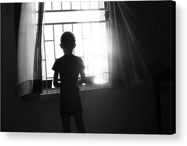 Child Acrylic Print featuring the photograph Missing Daddy by Dexter Browne