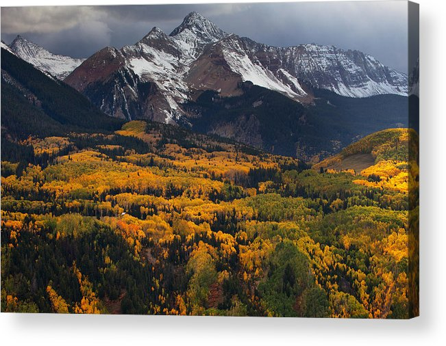 Colorado Landscapes Acrylic Print featuring the photograph Mountainous Storm by Darren White