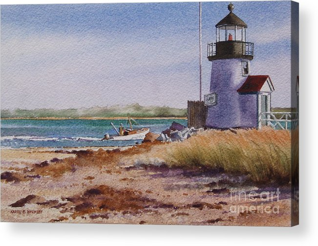 Lighthouse Acrylic Print featuring the painting Nantucket Winter Light by Karol Wyckoff