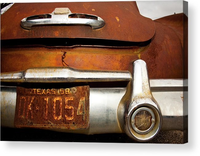 Buick Acrylic Print featuring the photograph Old Buick by Mark Weaver