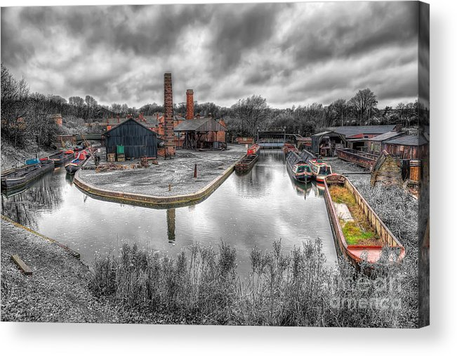 Architecture Acrylic Print featuring the photograph Old Dock by Adrian Evans