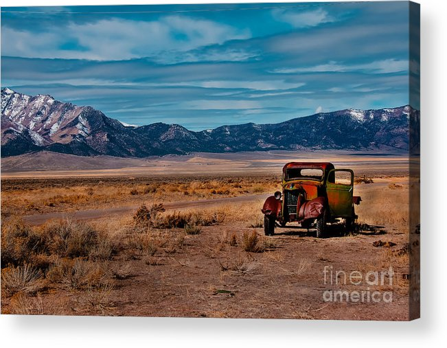 Transportation Acrylic Print featuring the photograph Old Pickup by Robert Bales