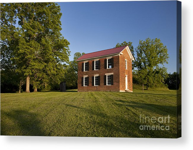 Old Schoolhouse Acrylic Print featuring the photograph Old Schoolhouse by Brian Jannsen