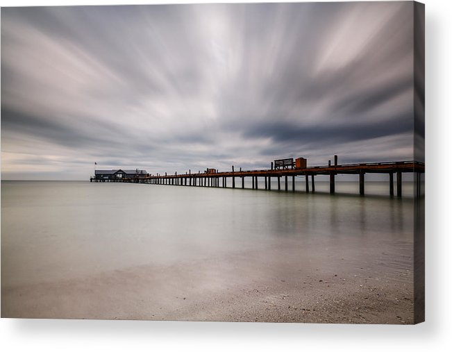 On A Stormy Day Acrylic Print by Claudia Domenig