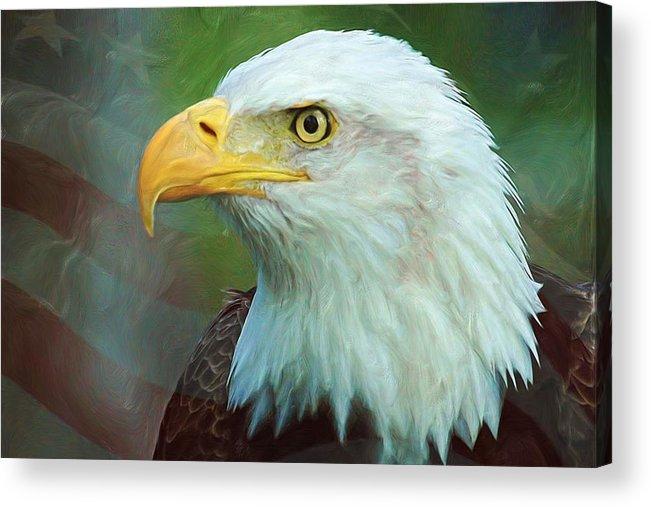4th Acrylic Print featuring the digital art Patriot by Heidi Smith