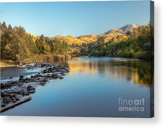 Idaho Acrylic Print featuring the photograph Peaceful River by Robert Bales