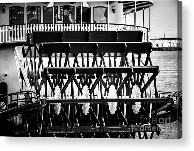 America Acrylic Print featuring the photograph Picture Of Natchez Steamboat Paddle Wheel In New Orleans by Paul Velgos