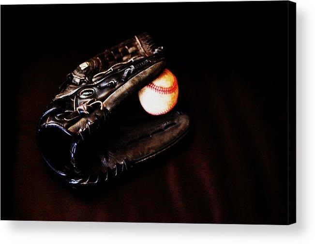 Baseball Acrylic Print featuring the photograph Play Ball Fine Art Photo by Jon Van Gilder