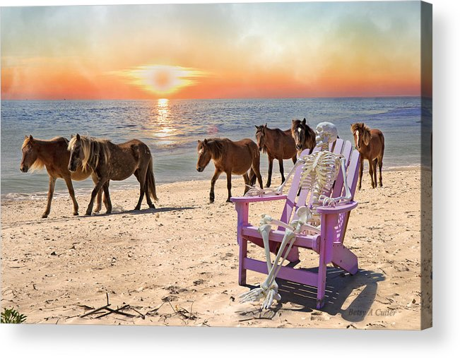 Harem Acrylic Print featuring the digital art Sam Watches Over The Harem by Betsy C Knapp