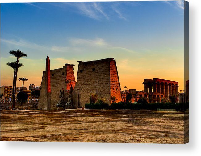 Egypt Acrylic Print featuring the photograph Seeking The Ancient Ruins Of Thebes In Luxor by Mark E Tisdale