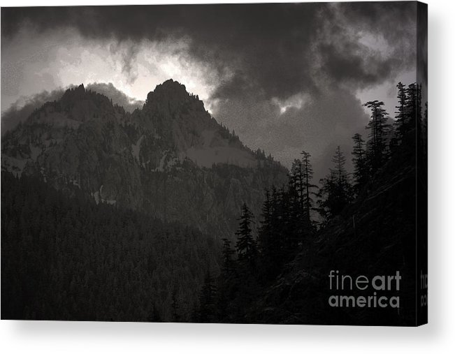 Mountains Washington Acrylic Print featuring the photograph Staircase by C E Dyer