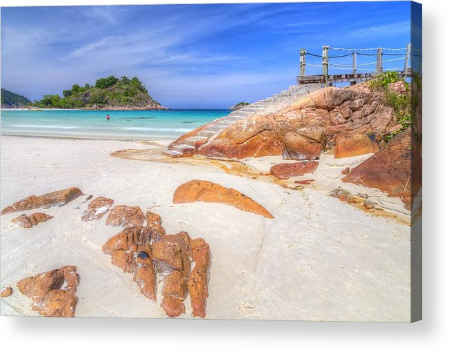 Paradise Acrylic Print featuring the photograph Stairs To Paradise by Mario Legaspi