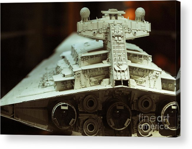 Fighter Acrylic Print featuring the photograph Star Destroyer Maquette by Micah May