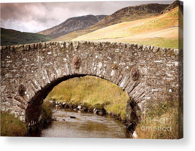 Bridge Acrylic Print featuring the photograph Stone Bridge Highlands by Jane Rix