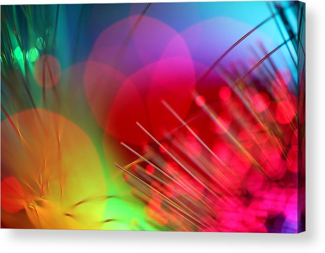 Abstract Acrylic Print featuring the photograph Strange Days by Dazzle Zazz