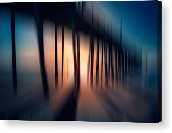 Outer Banks Acrylic Print featuring the photograph Symphony Of Shadow - A Tranquil Moments Landscape by Dan Carmichael