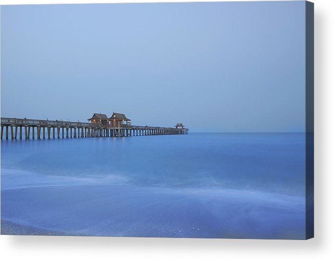 Pier Acrylic Print featuring the photograph The Blue Hour by Kim Hojnacki