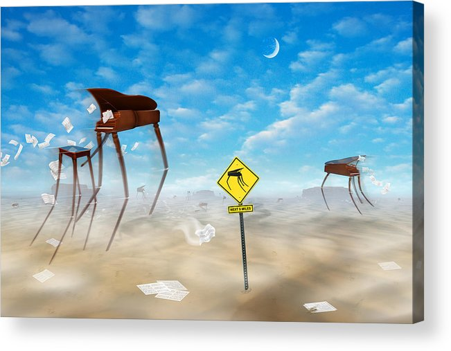 Surrealism Acrylic Print featuring the photograph The Crossing by Mike McGlothlen