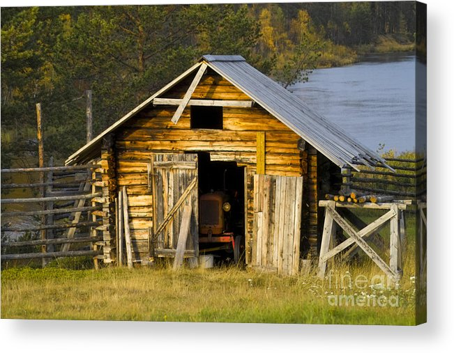 Heiko Acrylic Print featuring the photograph The Old Barn by Heiko Koehrer-Wagner