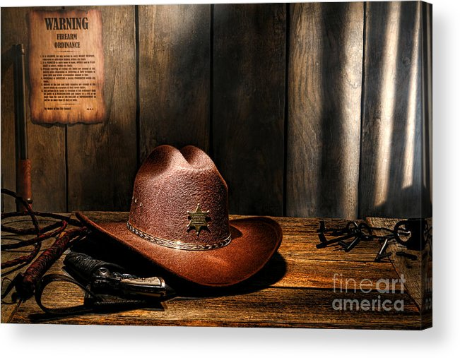 Sheriff Acrylic Print featuring the photograph The Sheriff Office by Olivier Le Queinec