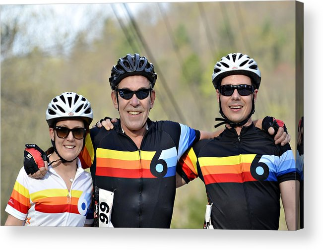 Sport Acrylic Print featuring the photograph Three Gran Fondo Riders by Susan Leggett