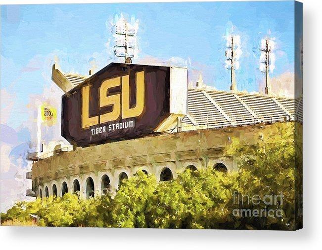 Lsu Acrylic Print featuring the photograph Tiger Stadium by Scott Pellegrin