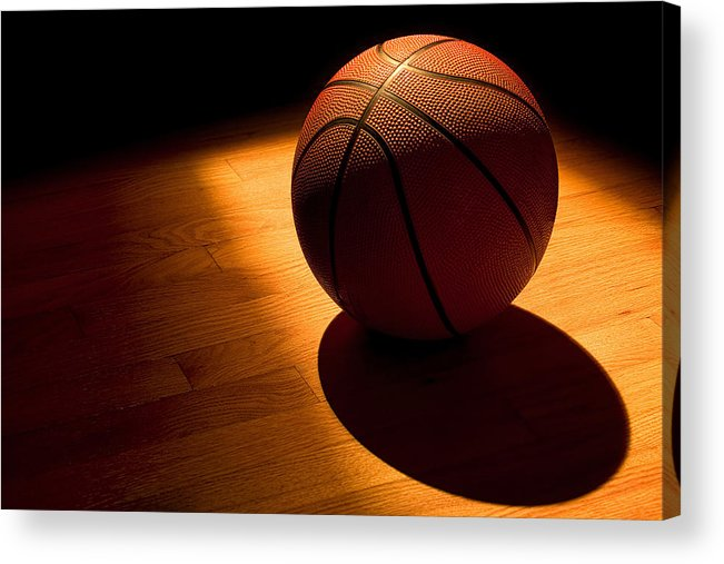 Basketball Acrylic Print featuring the photograph Under The Lights by Andrew Soundarajan