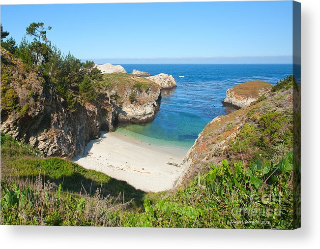 Point Lobos Acrylic Print featuring the photograph Vista Of China Cove At Point Lobos State Reserve California by Artist and Photographer Laura Wrede
