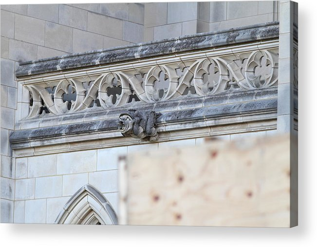 Alter Acrylic Print featuring the photograph Washington National Cathedral - Washington Dc - 01134 by DC Photographer
