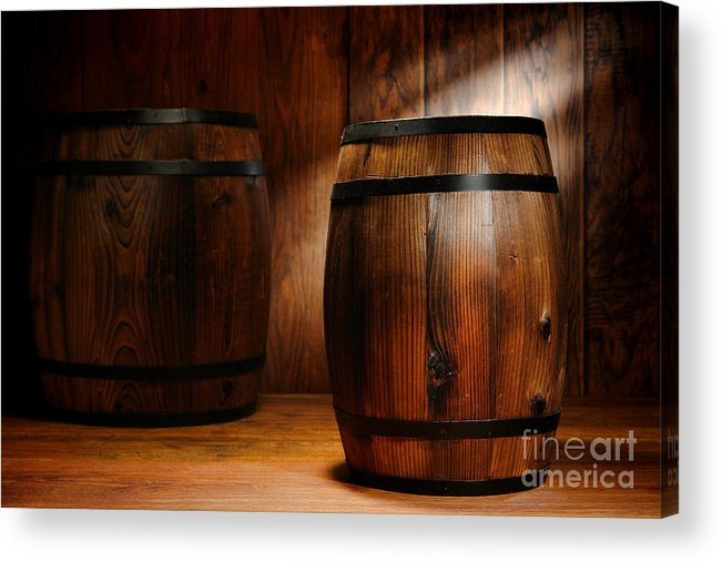 Barrel Acrylic Print featuring the photograph Whisky Barrel by Olivier Le Queinec