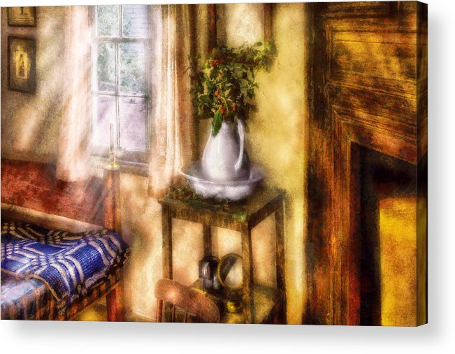 Savad Acrylic Print featuring the digital art Winter - Christmas - Early Christmas Morning by Mike Savad