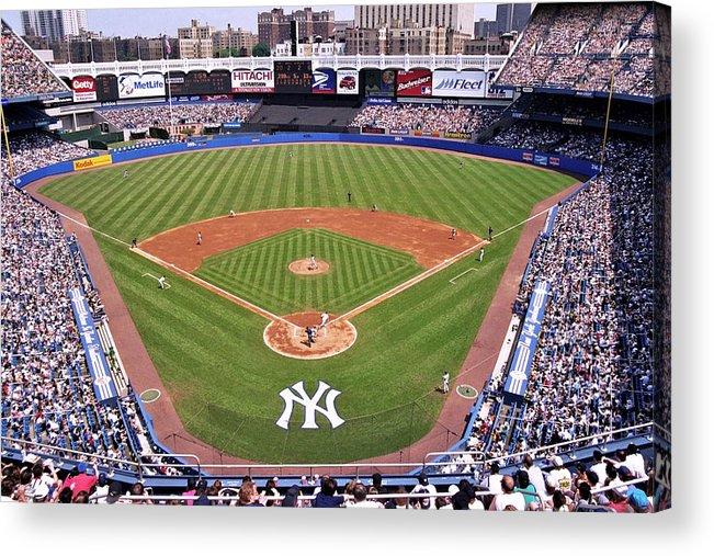 Yankee Stadium Acrylic Print featuring the photograph Yankee Stadium by Allen Beatty