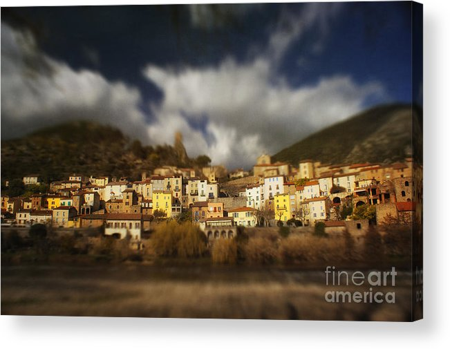 Roquebrun Acrylic Print featuring the photograph Roquebrun by Paul Grand