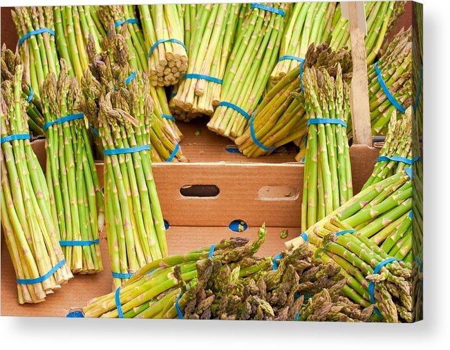 Asparagus Acrylic Print featuring the photograph Asparagus by Tom Gowanlock
