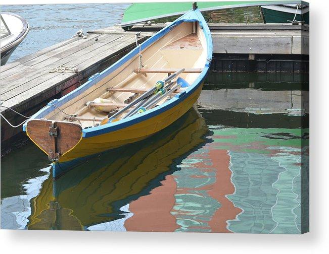 Water Acrylic Print featuring the photograph Boats Of Boston Harbor by Susan McNamara