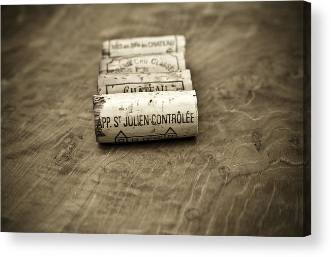 Wine Acrylic Print featuring the photograph Bordeaux Wine Corks by Frank Tschakert