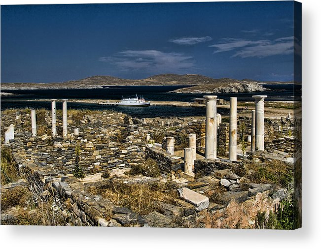 Delos Acrylic Print featuring the photograph Delos Island by David Smith