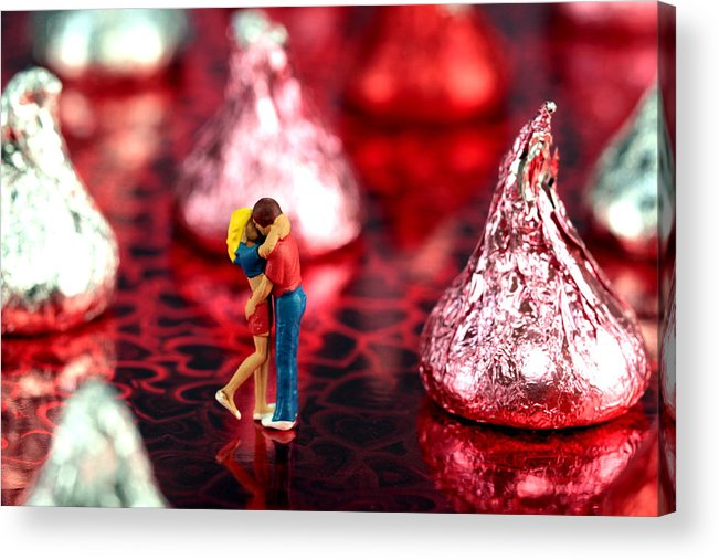 Lover Acrylic Print featuring the photograph The Lovers In Valentine's Day by Paul Ge