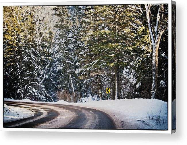 Nature Acrylic Print featuring the photograph Around The Bend by Lisa Spencer