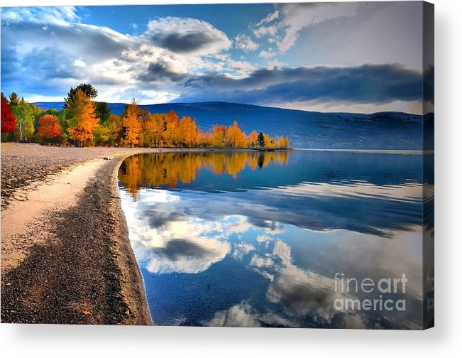 Autumn Acrylic Print featuring the photograph Autumn Reflections In October by Tara Turner
