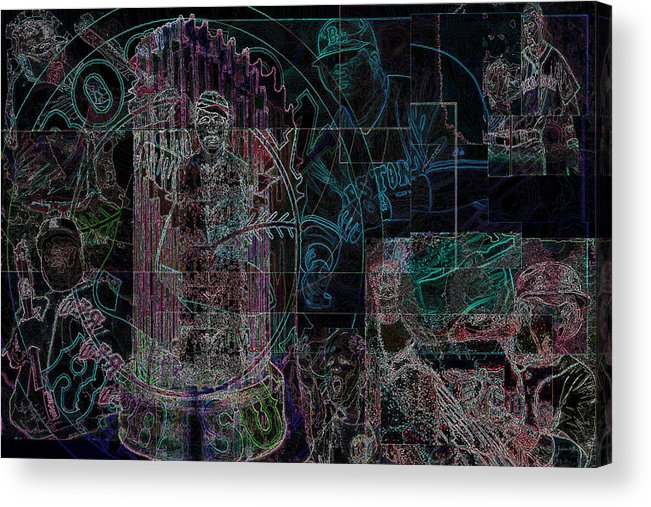 Digital Art Acrylic Print featuring the digital art Bean Town V3 by Jimi Bush