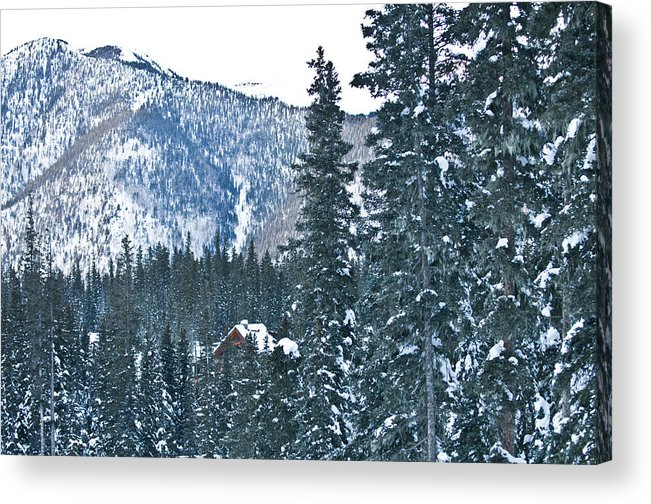 Landscape Acrylic Print featuring the photograph Blue Green Mountain by Lisa Spencer