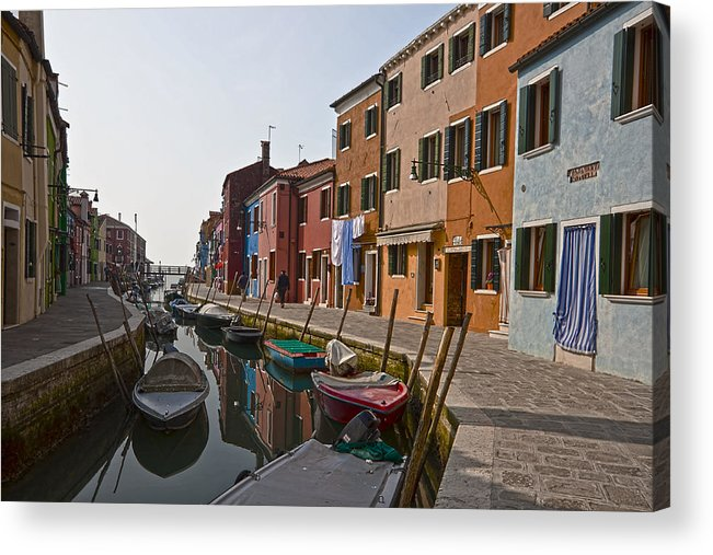 Architecture Acrylic Print featuring the photograph Burano - Venice - Italy by Joana Kruse