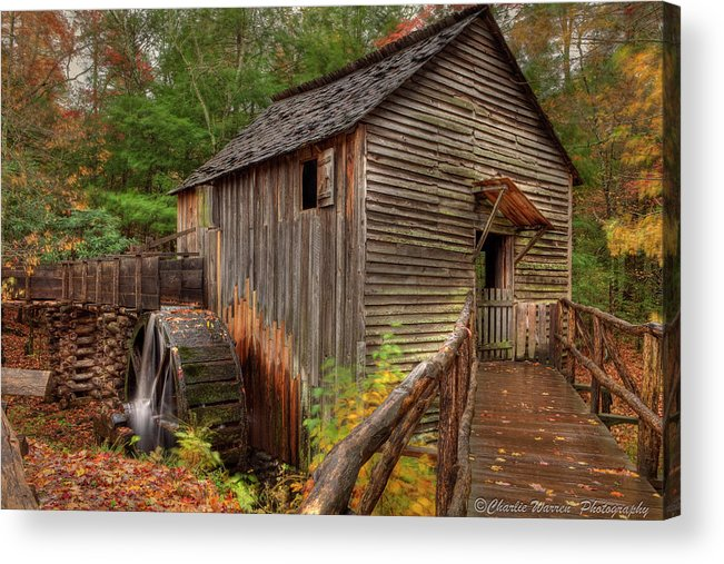 2010 Acrylic Print featuring the photograph Cable Mill by Charles Warren