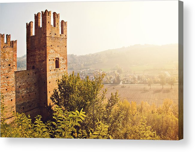 Horizontal Acrylic Print featuring the photograph Castell'arquato by Just a click