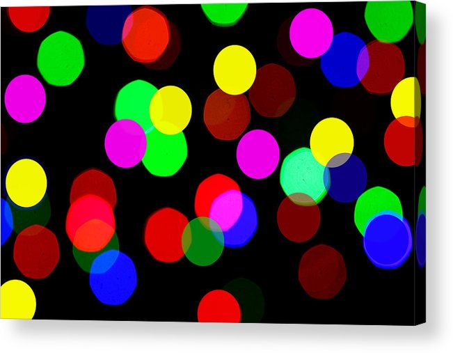 Bokceh Acrylic Print featuring the photograph Colorful Bokeh by Paul Ge