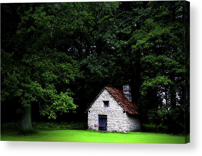 Architecture Acrylic Print featuring the photograph Cottage In The Woods by Fabrizio Troiani