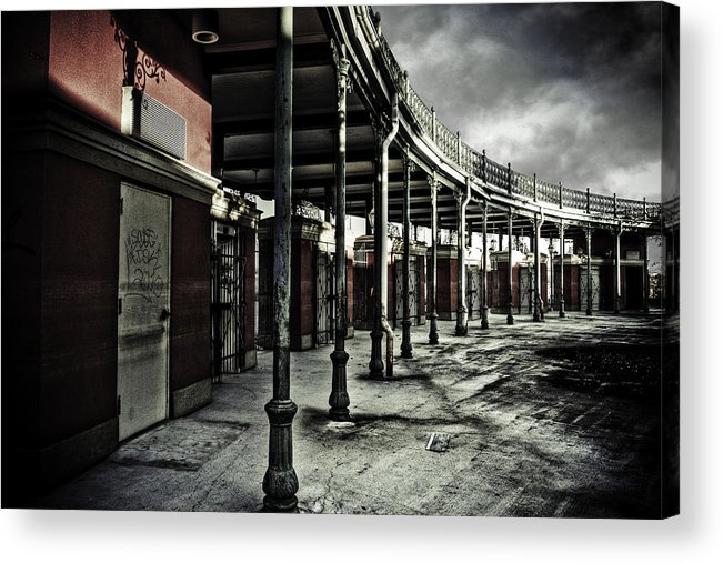 Entrance Acrylic Print featuring the photograph Dark Entrance by Pixel Perfect by Michael Moore